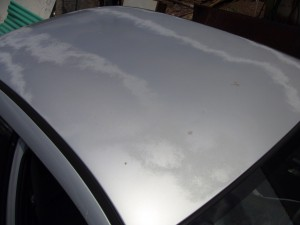 Faded Clear Coat on Roof of Car
