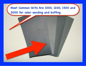 sand paper grits