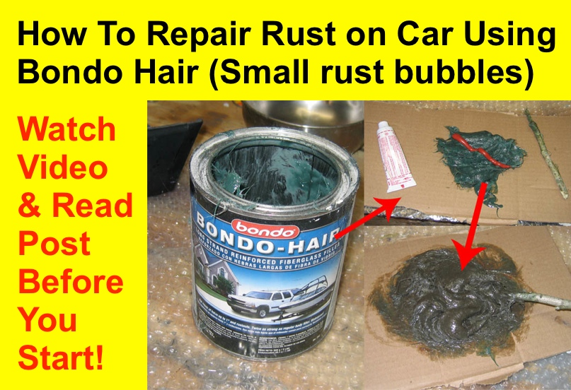 How To Repair Rust Using Kitty Hair or Bondo Hair